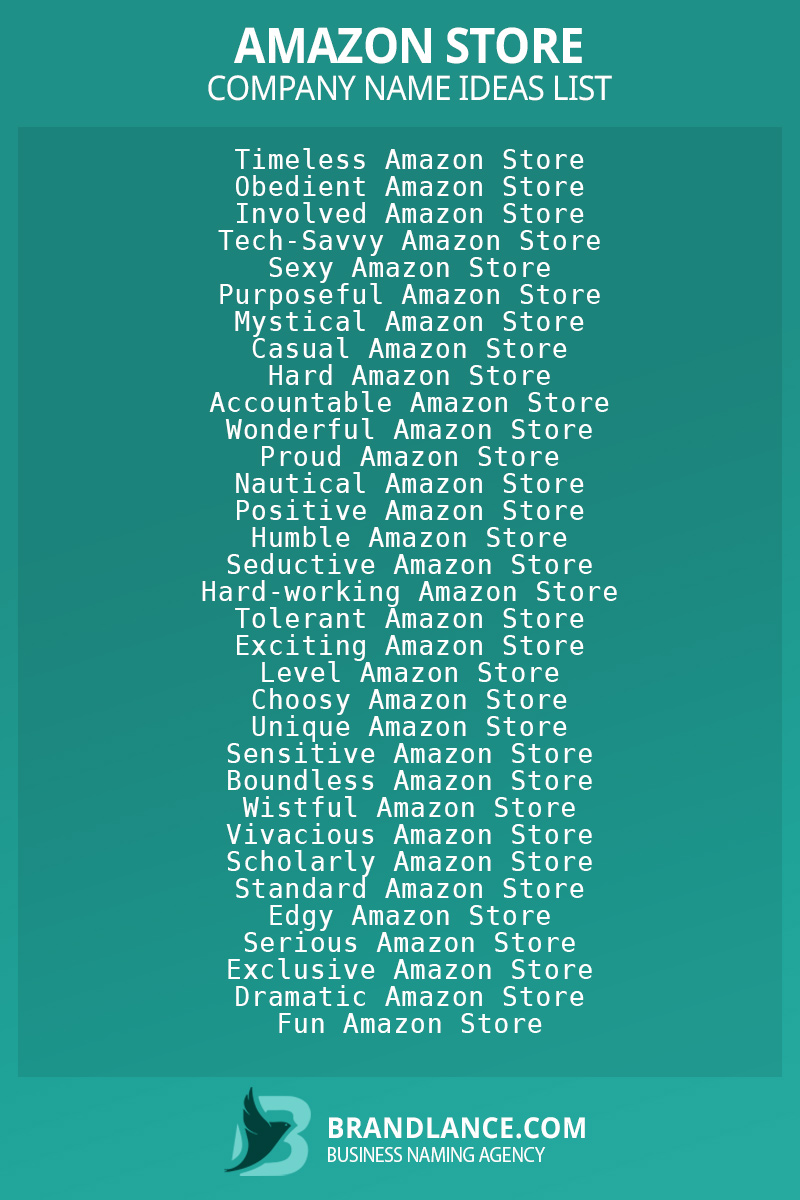 Amazon store business naming suggestions from Brandlance naming experts