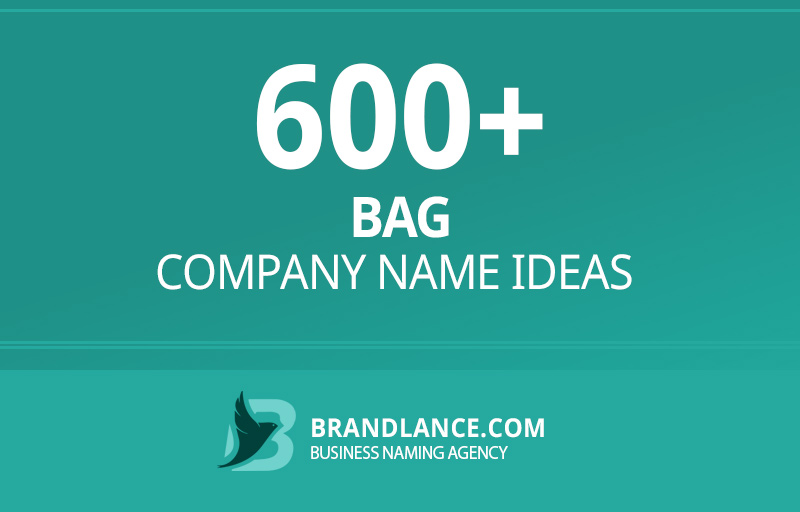 Bag company name ideas for your new business venture