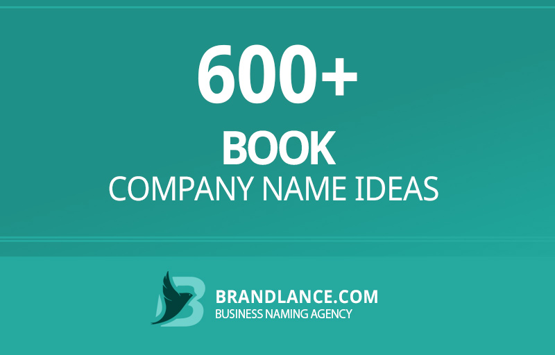Book company name ideas for your new business venture