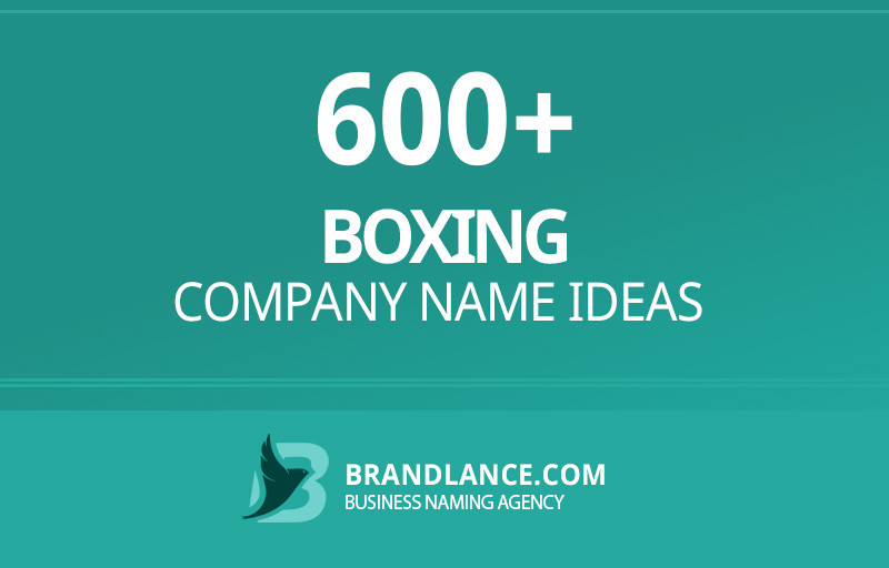 Boxing company name ideas for your new business venture