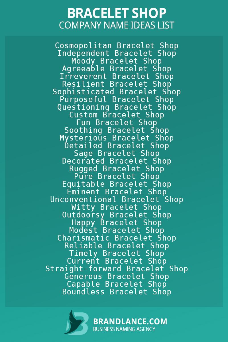 Bracelet shop business naming suggestions from Brandlance naming experts