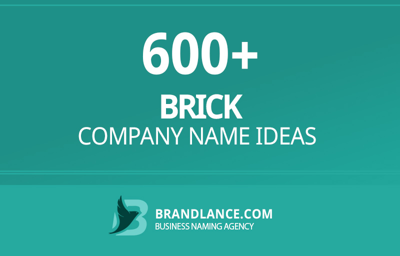 Brick company name ideas for your new business venture