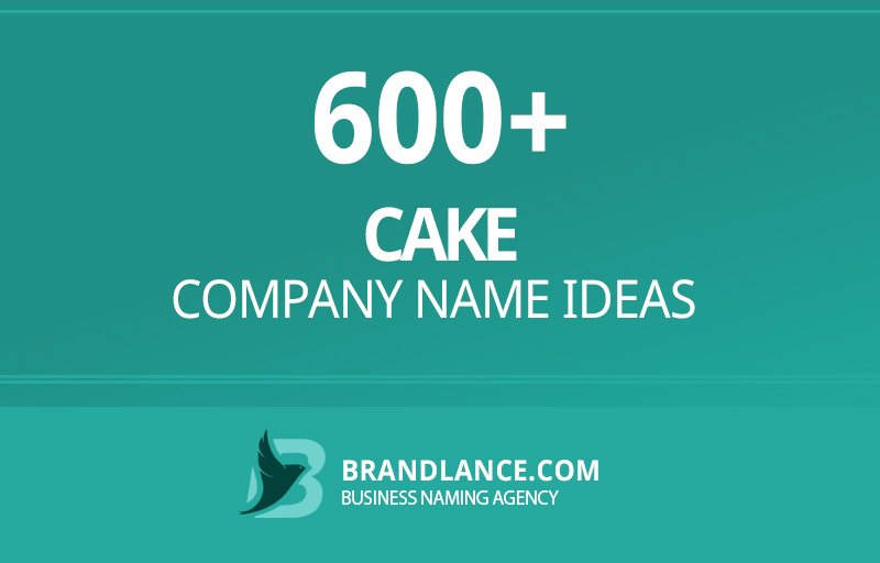 Cake company name ideas for your new business venture