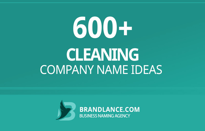 Cleaning company name ideas for your new business venture