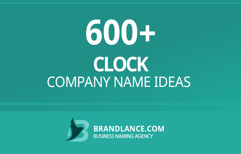 Clock company name ideas for your new business venture