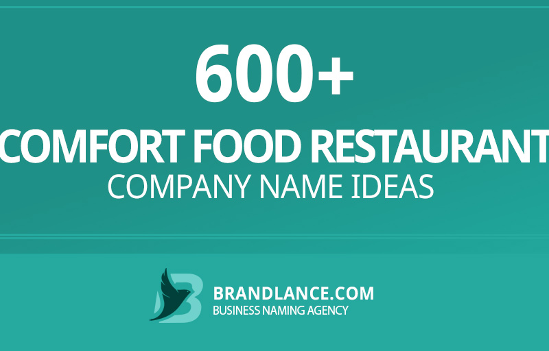 Comfort food restaurant company name ideas for your new business venture