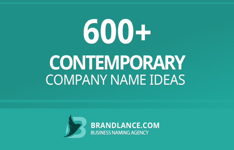 Contemporary company name ideas for your new business venture