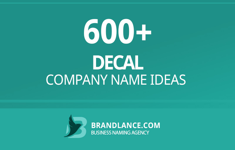 Decal company name ideas for your new business venture
