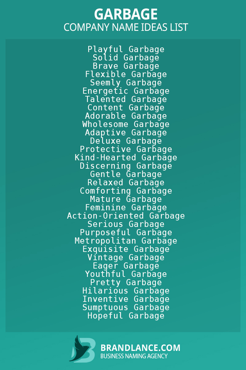 Garbage business naming suggestions from Brandlance naming experts