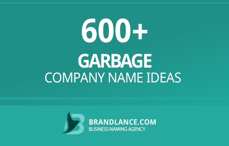Garbage company name ideas for your new business venture