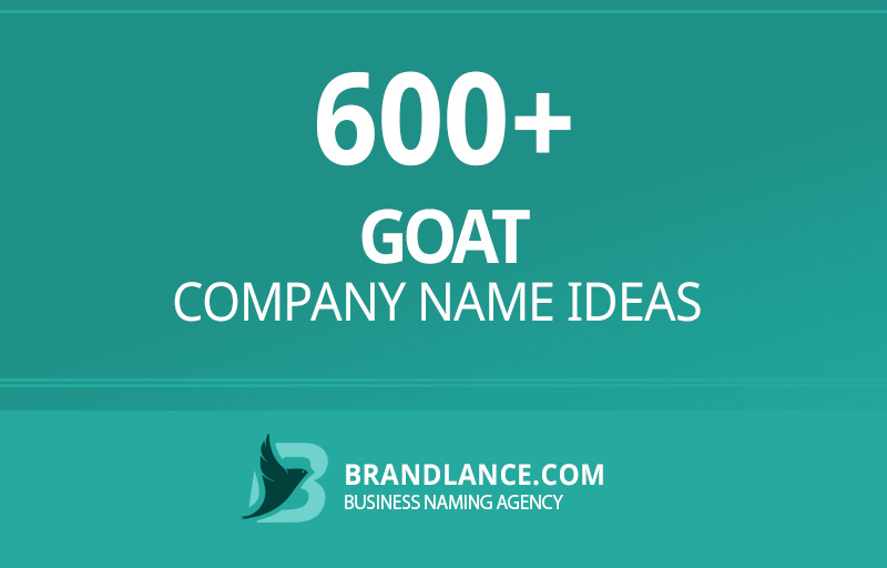 Goat company name ideas for your new business venture