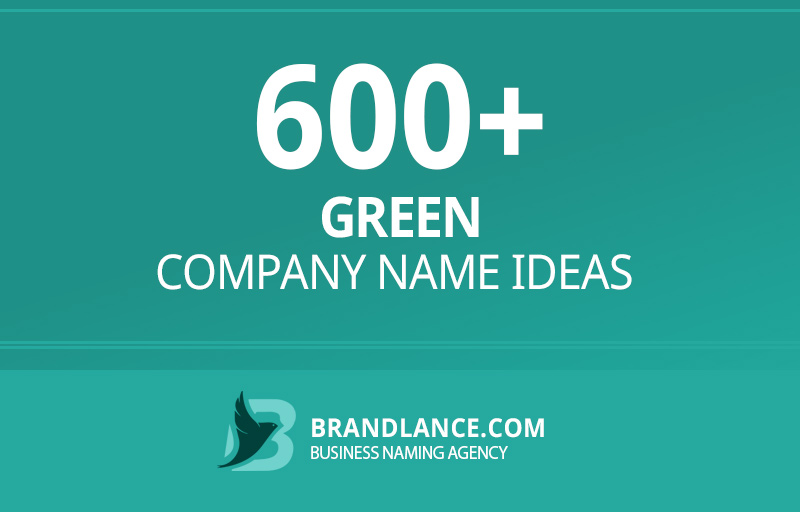 Green company name ideas for your new business venture