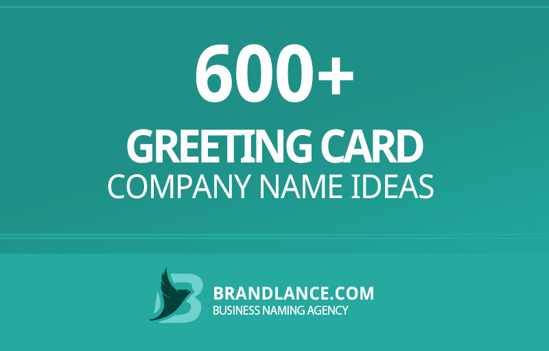 Greeting card company name ideas for your new business venture