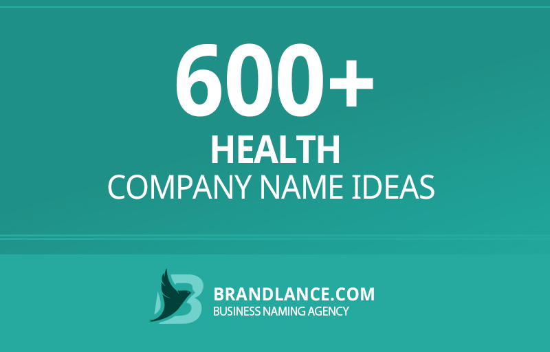 Health company name ideas for your new business venture