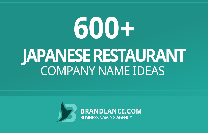 Japanese restaurant company name ideas for your new business venture