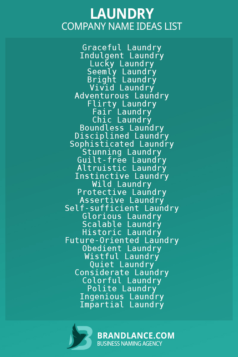 Laundry business naming suggestions from Brandlance naming experts