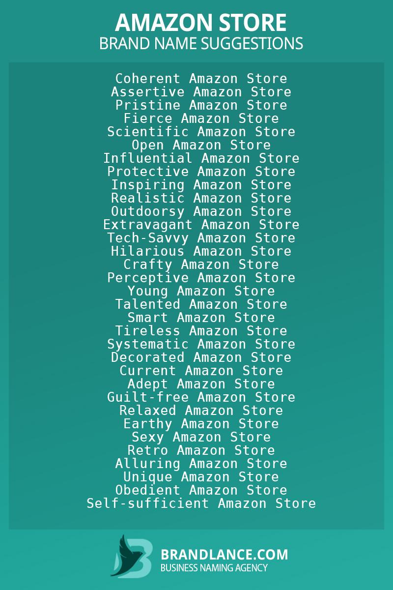 List of brand name ideas for newAmazon storecompanies