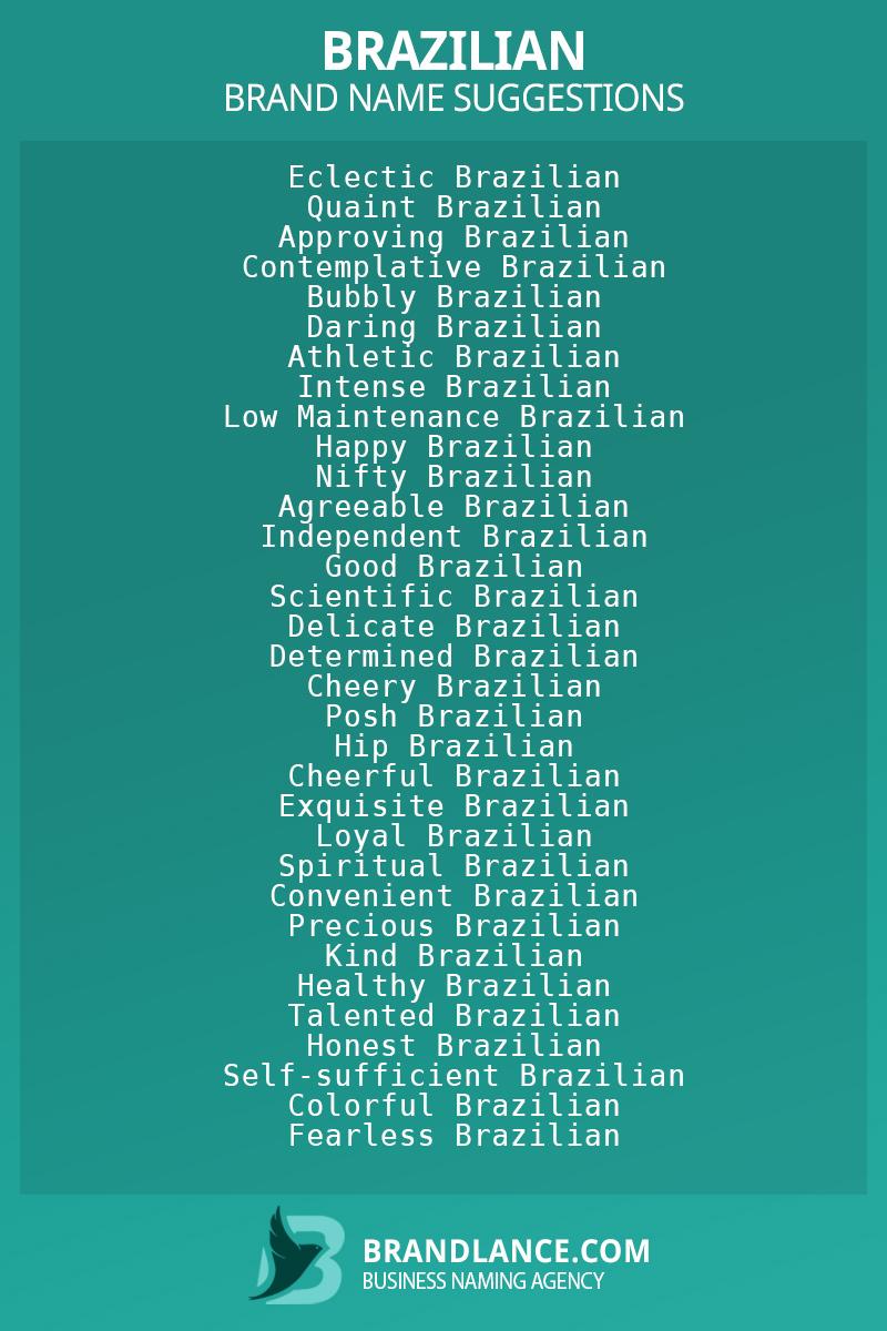 List of brand name ideas for newBraziliancompanies