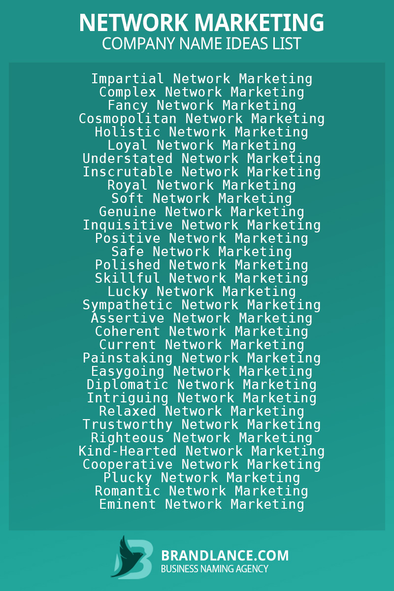 Network marketing business naming suggestions from Brandlance naming experts