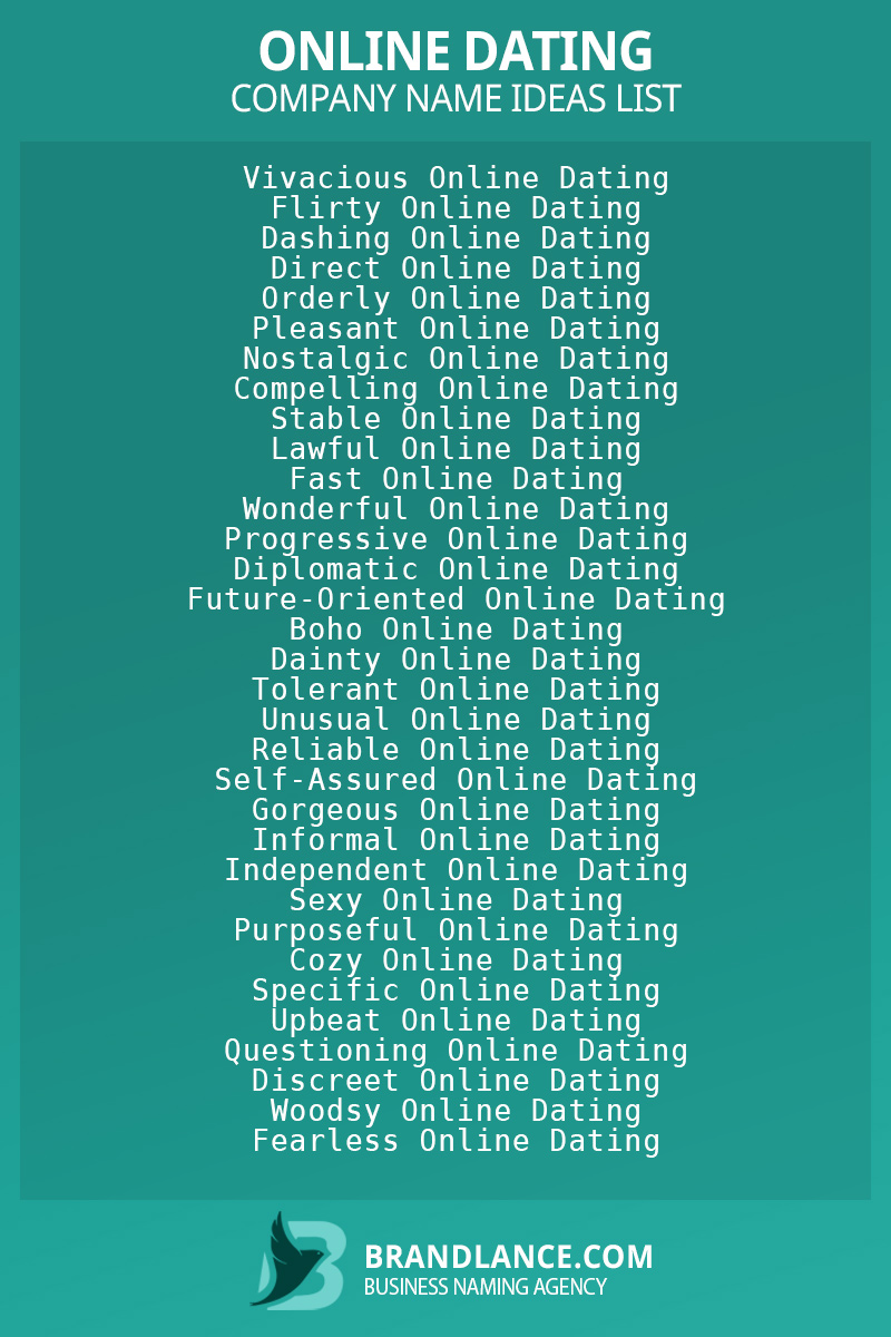 Online dating business naming suggestions from Brandlance naming experts