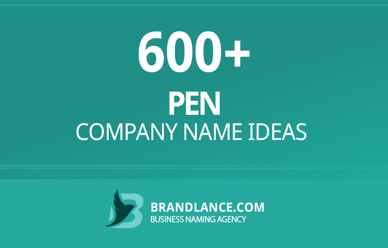 Pen company name ideas for your new business venture