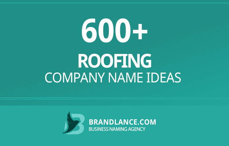 Roofing company name ideas for your new business venture