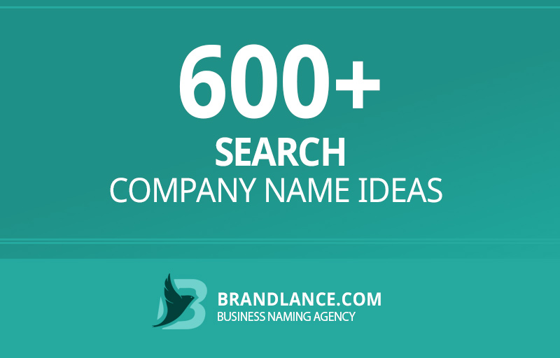 Search company name ideas for your new business venture