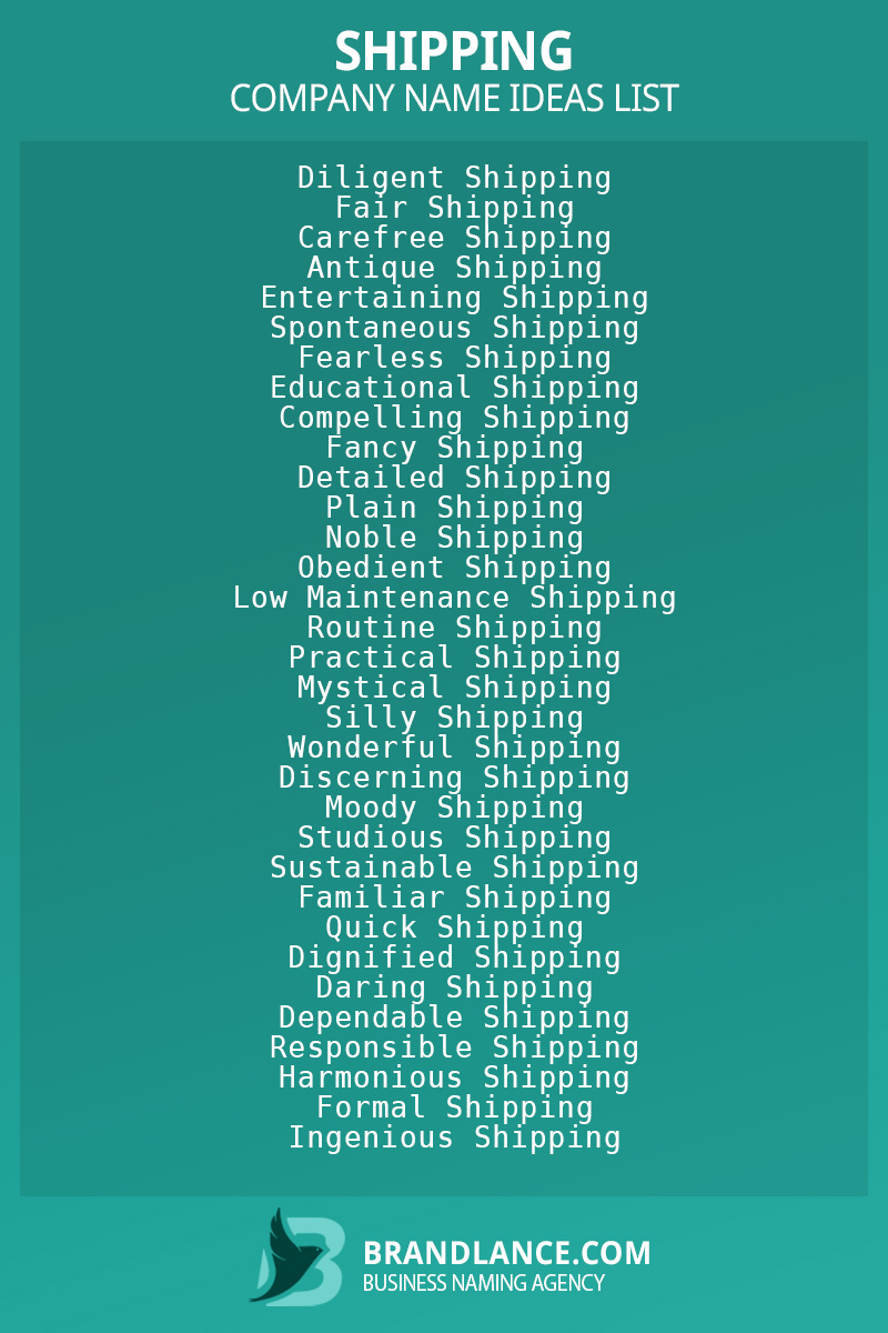 Shipping business naming suggestions from Brandlance naming experts