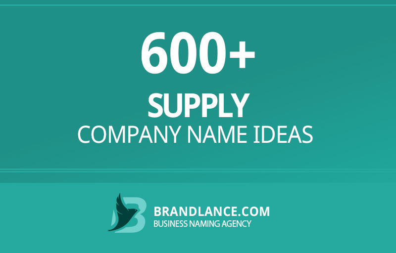 Supply company name ideas for your new business venture